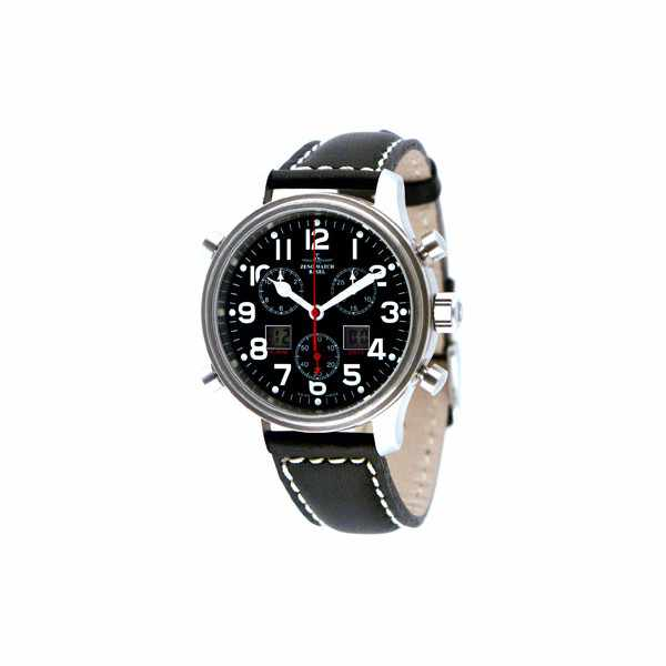 ZENO-WATCH BASEL, Pilot Oversized XL Fliegeruhr, Chrono-Alarm Ø 42mm_1358