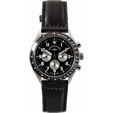 ZENO-WATCH BASEL, Lemania Handaufzug Chronograph, Edelstahl a1