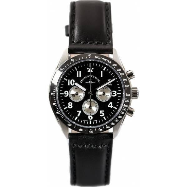 ZENO-WATCH BASEL, Lemania Handaufzug Chronograph, Edelstahl a1_13905