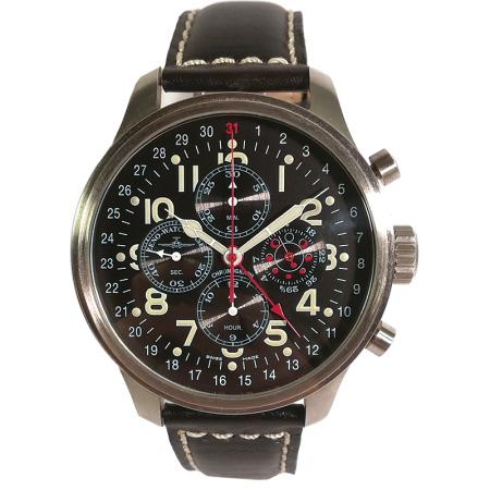 ZENO-WATCH BASEL, Pilot Oversized, XL Fliegerchronograph Mondphase_13970