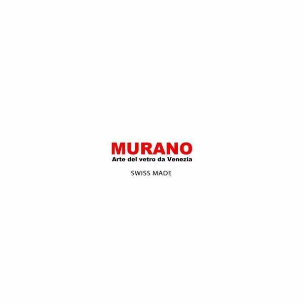 MURANO Skelettuhr Handaufzug, Murrina Glas Mosaic schwarz_14025