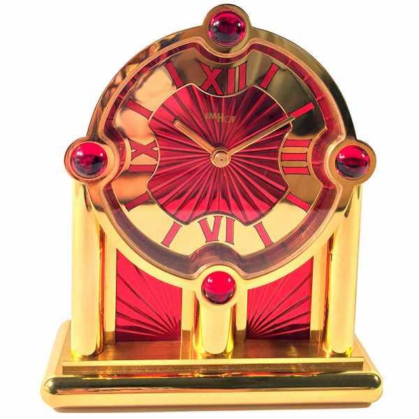IMHOF Tischuhr Quartz, Orient De Luxe rot_14122