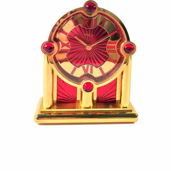IMHOF Tischuhr Quartz, Orient De Luxe rot_14123