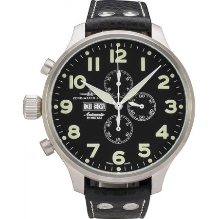 ZENO-WATCH BASEL, Pilot Super Oversized XXL Automatik Chrono_14128