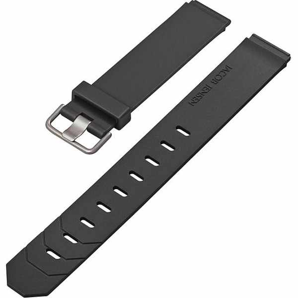 JACOB JENSEN, Uhrenband Kautschuk 19mm, schwarz_14162