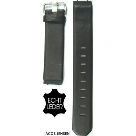 JACOB JENSEN, Uhrband Leder 17mm, schwarz