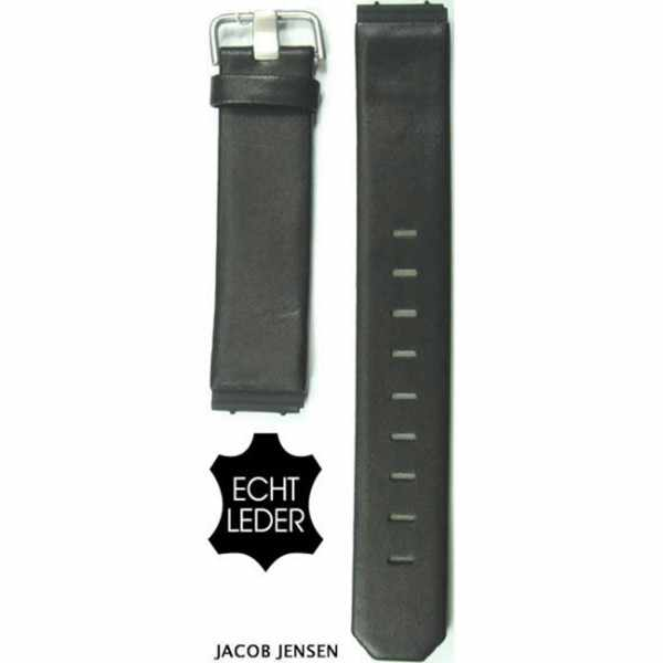 JACOB JENSEN Uhrenband Leder 17mm, schwarz_14169
