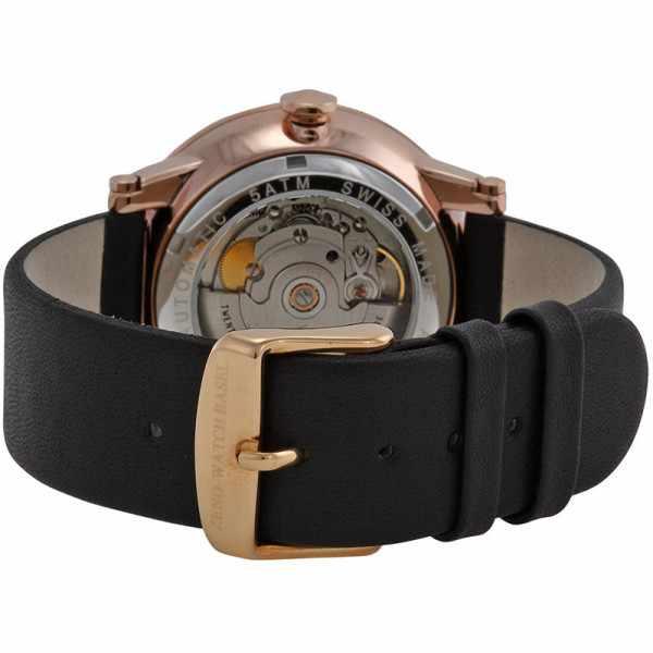 ZENO, Retro Roma Art Deco XL, Automatik Uhr, rosé vergoldet_1419
