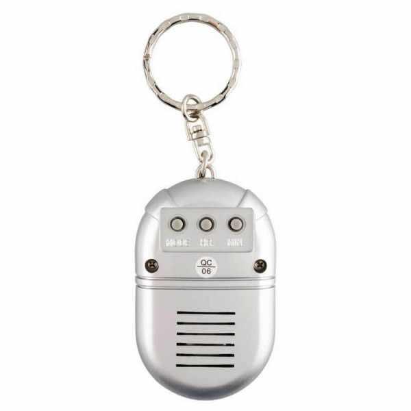TALKING CLOCK sprechende LCD Uhr mit Reisewecker und Schlüsselanhänger_14286