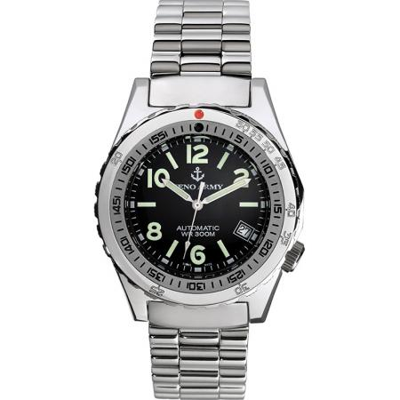 ZENO Army Diver Automatik, Retro Taucheruhr 300m, schwarz_14295