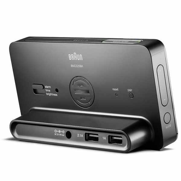 BRAUN Bluetooth LCD Digital Wecker, schwarz_14414
