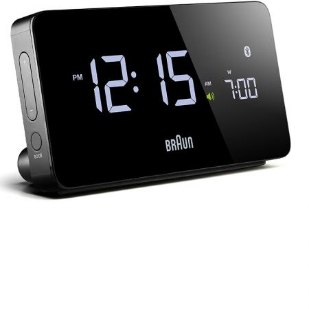 BRAUN Bluetooth LCD Digital Wecker, schwarz