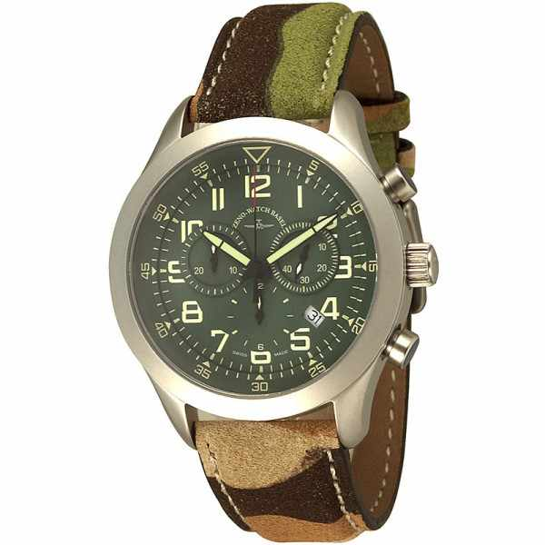 ZENO-WATCH BASEL, Pilot  Precision, Quartz Chrono, Camouflage_14424