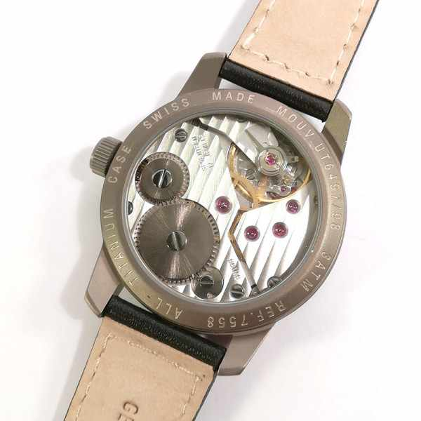 ZENO-WATCH BASEL, Pilot Classic, Handaufzug 24 Stundenanzeige Titan_14434