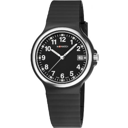 M-WATCH, Maxi 38, Swiss Quartzuhr, schwarz