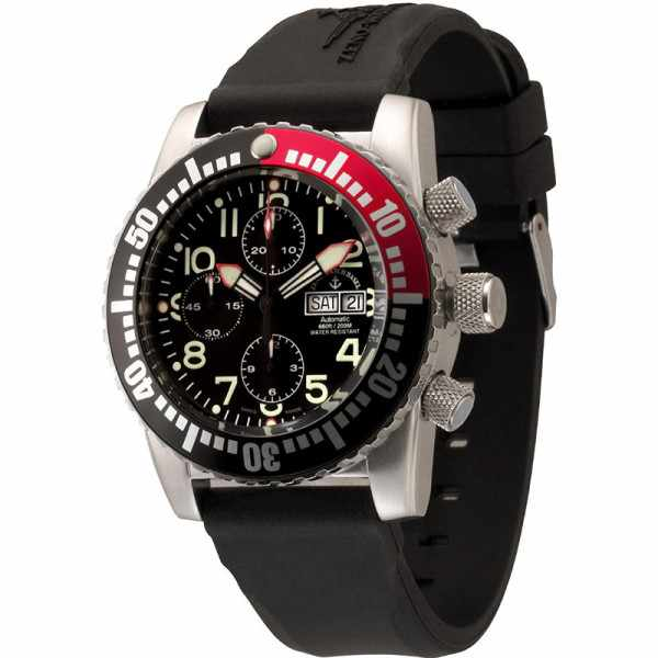 ZENO-WATCH BASEL, Airplane Diver Automatik Chronograph_14771