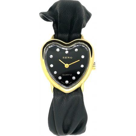 ZENO, Herz/Heart/Cœur Quartzuhr, schwarz_14788