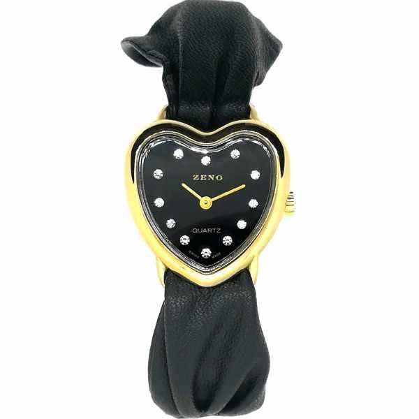 ZENO, Herz/Heart/Cœur, Quartzuhr, schwarz_14788