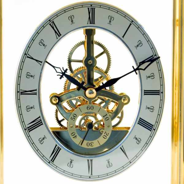 LONDON CLOCK, Skelett, Tischuhr, Quartz_14860