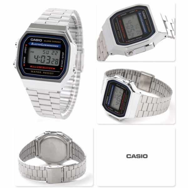CASIO Retro LCD, Illuminator, Digitaluhr, silber_149