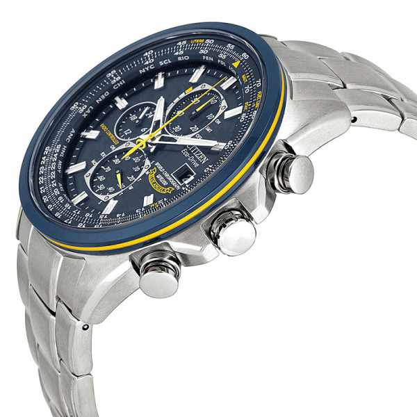 CITIZEN Blue Angels Promaster, Worldtime Chrono, Eco Drive Funkuhr_15018