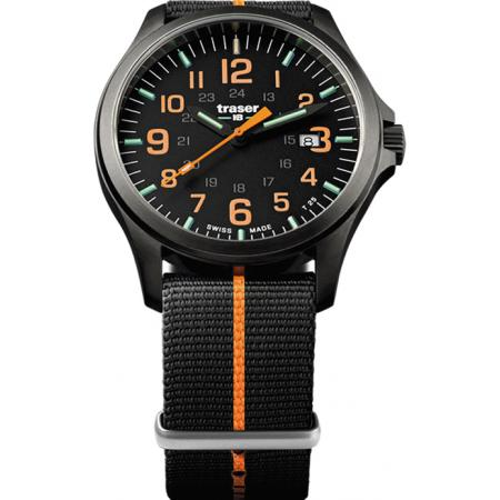 TRASER P67 Officer Pro GunMetal, Lumiuhr schw/orange_15069