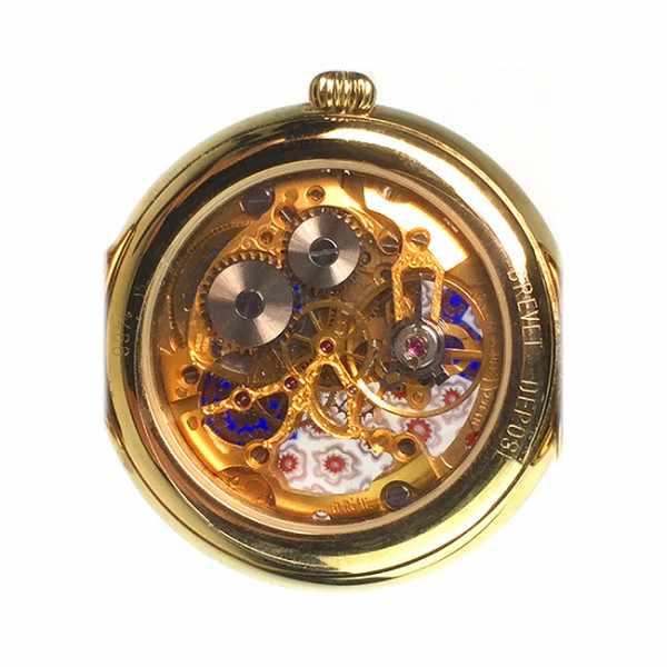 MURANO Skelettuhr Handaufzug, Murrina Glas Mosaic violett_15136