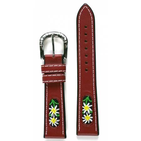 MICHEL JORDI Uhrenband Leder 18mm, rot_15208