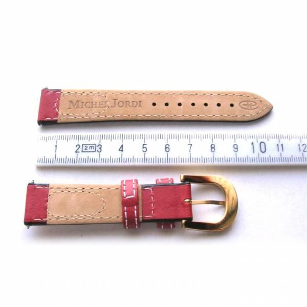 MICHEL JORDI Uhrenband Leder 18mm, rot_15210
