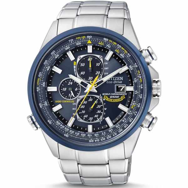 CITIZEN Blue Angels Promaster, Worldtime Chrono, Eco Drive Funkuhr_15276