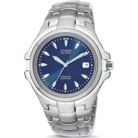 CITIZEN Marinaut Medium, Eco-Drive Solaruhr, Super Titanium blau