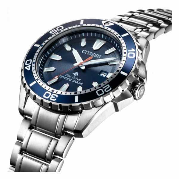 CITIZEN Promaster Eco-Drive Diver, Solar Taucheruhr, Stahl blau_15291