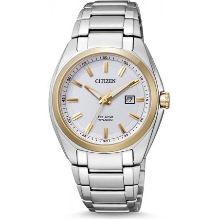 CITIZEN, Super Titanium Lady, Eco-Drive Solaruhr, bicolor