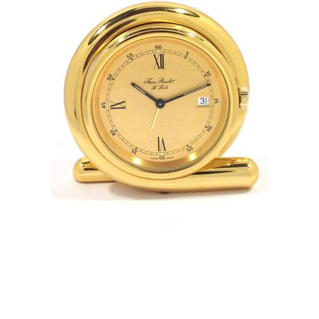 IMHOF Tischuhr Quartz, Crossover Wecker, vergoldet