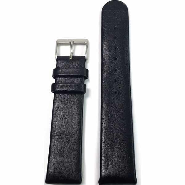 FORTIS Uhrenband Leder 21mm, schwarz_15349