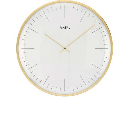 AMS Bauhaus Quartzwanduhr, gold gross