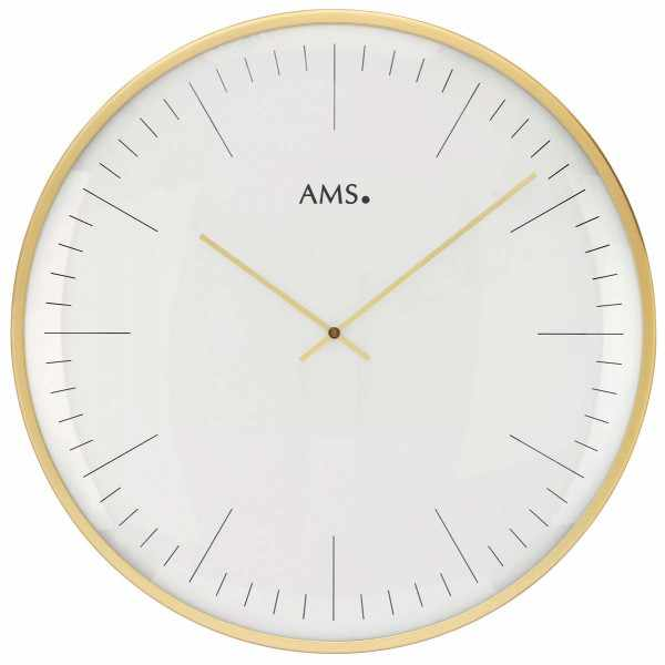 AMS Bauhaus Quartzwanduhr, gold gross_15425
