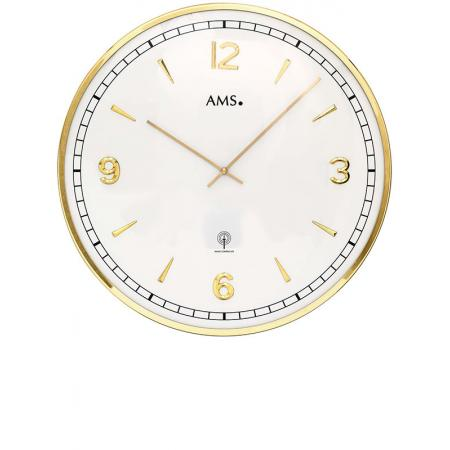 AMS Vintage Fifties Funkwanduhr, gold gross_15439