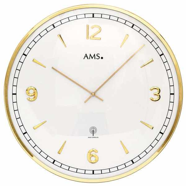 AMS, Vintage Fifties Funkwanduhr, gold gross_15444