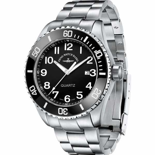 ZENO-WATCH BASEL, Diver Ceramic Quartz, Edelstahl_15730