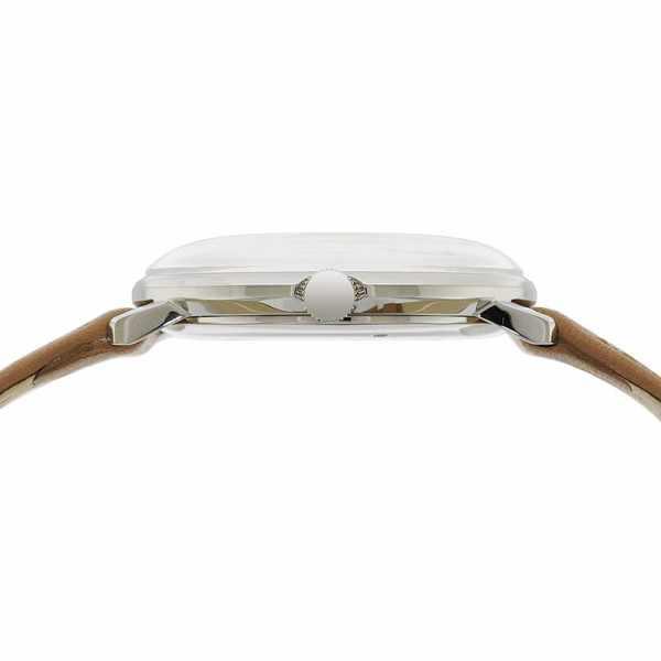 Junghans MAX BILL 35 Handaufzuguhr, Numbers weiss, Lederband_15871