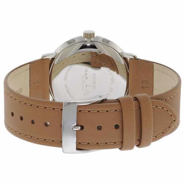 Junghans MAX BILL 35 Handaufzuguhr, Numbers weiss, Lederband_15872