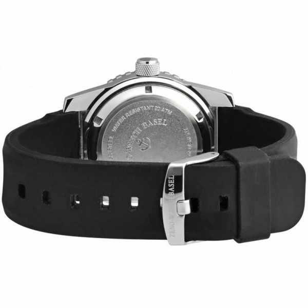 ZENO-WATCH BASEL, Airplane Diver, XL Taucheruhr GMT, schwarz/rot_16010