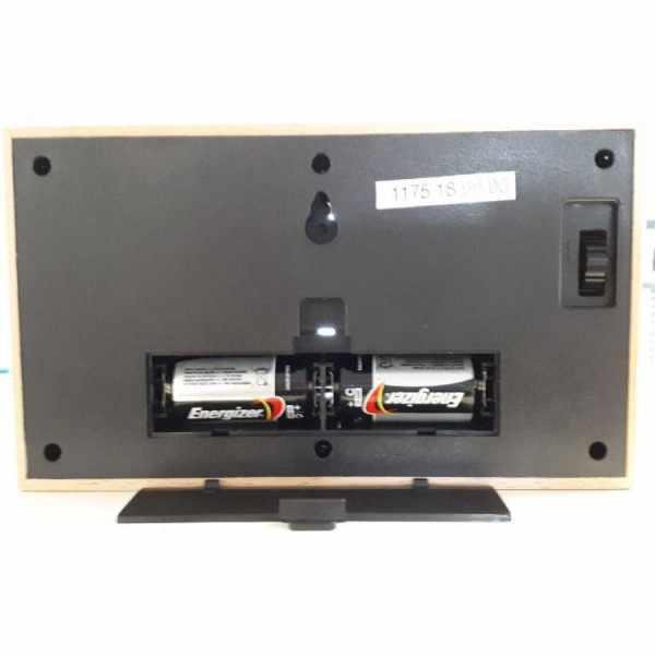 AMS Flip-Clock digital Tischuhr Buche_16133
