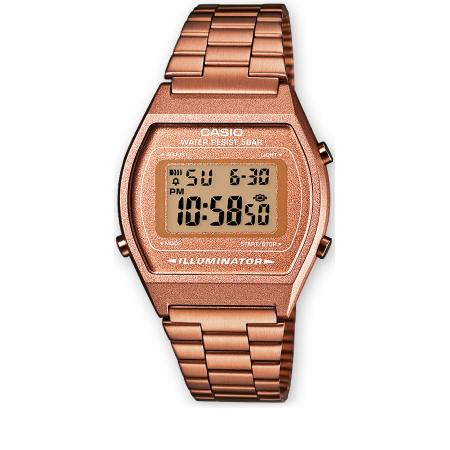 CASIO Retro LCD, Illuminator, Digitaluhr, roségold_16314