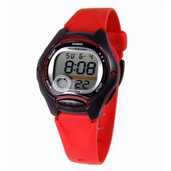 CASIO LCD Illuminator Sportuhr klein, schwarz-rot_16385
