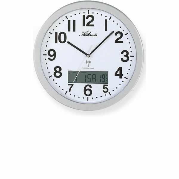 ATLANTA Date Display Funkwanduhr mit Kalender und Thermometer_16398