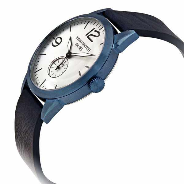 ZENO-WATCH BASEL, Retro Vintage, Quartzuhr blau_16540