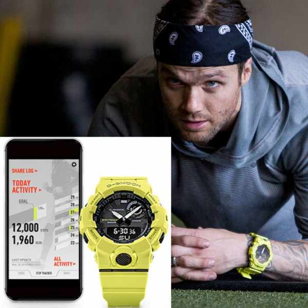 G-SHOCK Bluetooth Stepptracker Digitaluhr, gelb_16570