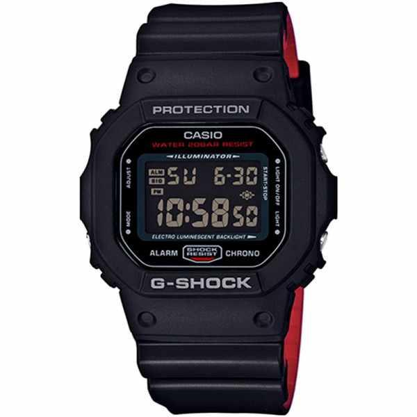 G-SHOCK Retro Blackout, LCD Digitaluhr, schwarz-rot_16747